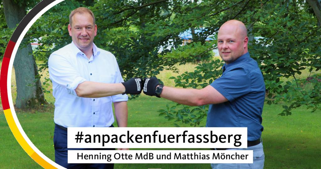 Henning Otte MdB und Matthias Möncher