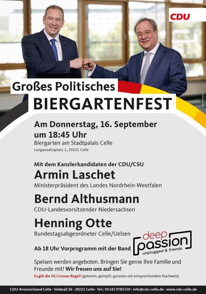 Laschet Biergartenfest 16.09.2021